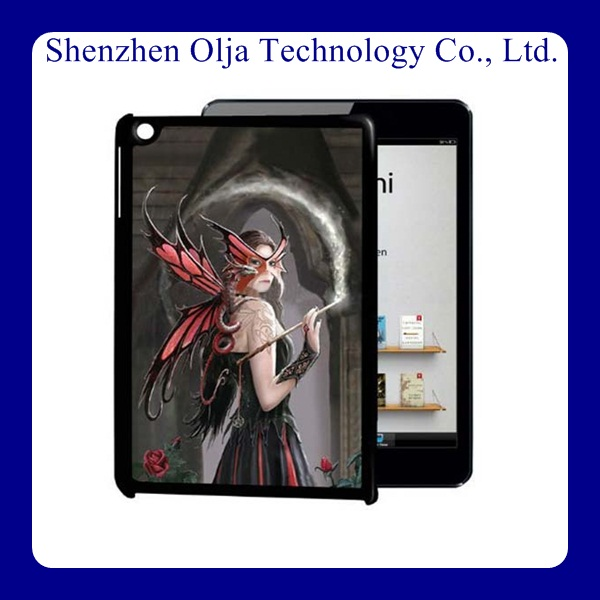 Olja OEM professional factory supply 3d leather cover anime case for ipad mini