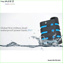 best IP67 level waterproof dustproof falling protect power bank 9000mah power bank power pack charger for outdoor activities