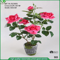 handmade decorative beautiful artificial pink rose flower for decoration