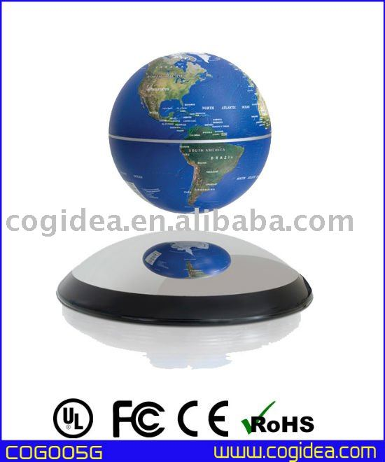Perfect magnetic floating globe suspending globe spinning globe for gift