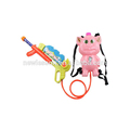 2016 wholesale funny pink air water gun set toy with backpack in China
