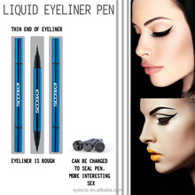 Double ended stamp waterproof long lasting private label liquid eyeliner pencil