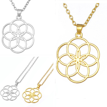 Seed And Flower Of Life Yoga Jewelry Sacred Geometry Boho Charm Mandala Pendant Necklace