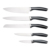 New kitchen products masterclass premium food grade stainless steel 5 pcs kitchen knife set
