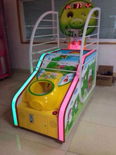 Luxury Kids Electronic Coin Operated Street Basketball Arcade game machine