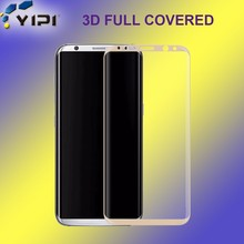 Cell Phone Accessory Anti Explosion 3D Curved Edge Full Cover Screen Protector, 9H Screen Ward For Samsung Galaxy S8*