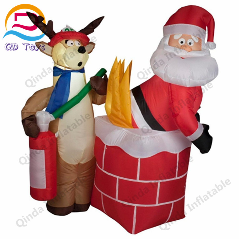 Advertising inflatable christmas old man for outdoor santa claus decoration PVC tarpaulin inflatable christmas santa claus