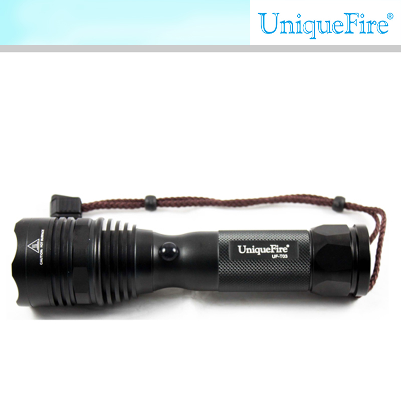UniqueFire led rechargeable torch bow flashlight outdoor handheld light