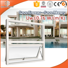 High-end Villa Top Quality Awning Windows Solid Wood and Aluminum Top Hung Windows