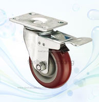 Medium Duty Good PU All Sizes Bed PU Swivel Caster Wheel For Trolley