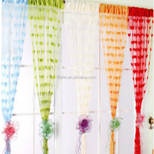 Home string curtains for door windows tulle curtains romantic blinds for children tassel lace curtain