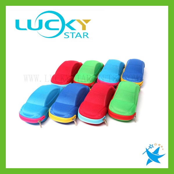Multi-color car shape eyeglasses case for kids wholesale avaitor sunglass case with zipper