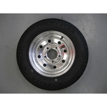 White 8 Spoke Wheel for trailer wheels