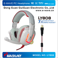 Super Bass Gaming Headset with USB plug from Dongguan factory