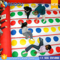 Hot Sale Giant Inflatable Twister Mattress Adult Inflatable Twister Game Inflatable 3D Floating Twister for Sale
