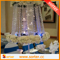 Cheap Crystal centerpiece for wedding decoration