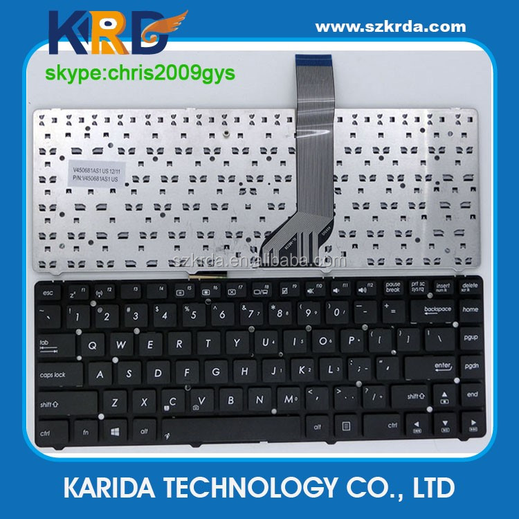 High quality notebook keyboard for Asus A45 K45 A85 A85V R400 N46 P45 English keyboard US