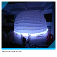 cheap price stock LED inflatable shell inflatable disco dome