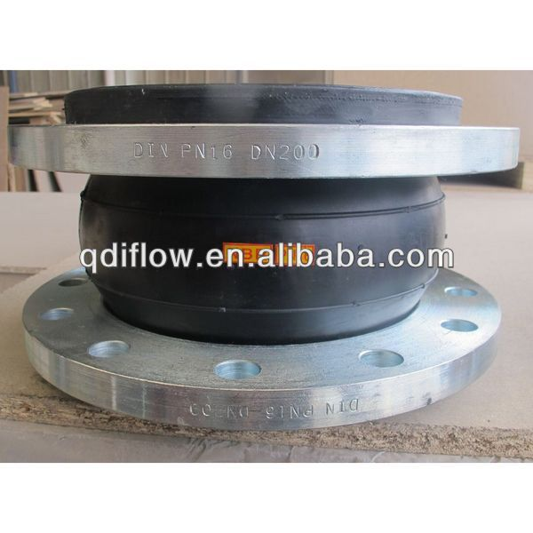 Connector rubber flexible flange joint