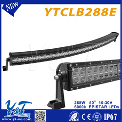 Y&T 50inch 288w wireless turn signal Cheap control led light wholesale High quality LED cars accessories