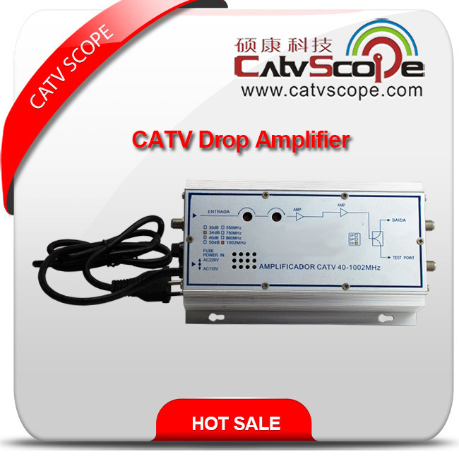 CSP-8640 CATV Indoor/House Drop Line Hybrid Amplifier