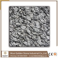 Factory custom sea wave white granite and marble slabs