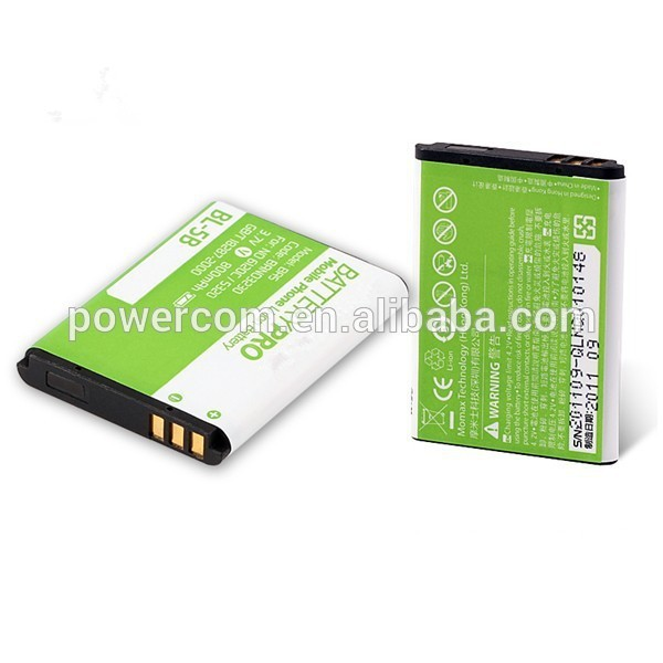 China factory price mobile phone battery BL-5B 3.7V 800mah for Nokia 3220/3230/5140/51401/5200/5300/5500/6020/6021/7260/7360