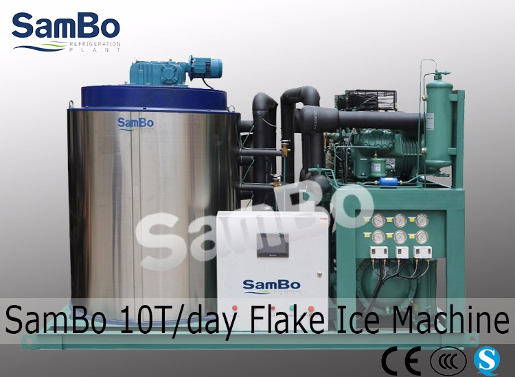 Air Cooler 3Tonne Commercial Snow Flake Ice Machine For Sale
