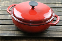 QULENO red enamel cast iron mini cocotte cast iron enamel pot
