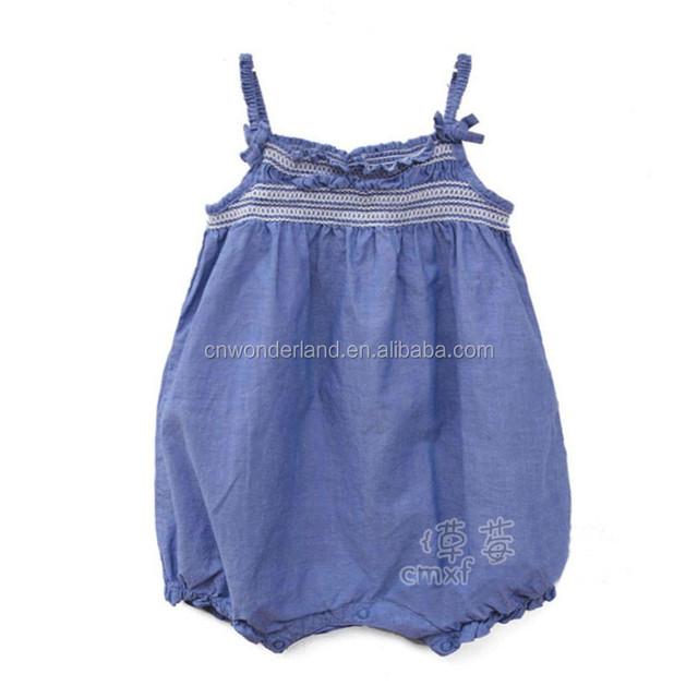 newborn one piece baby wear soft denim bodysuit onesie baby wholesale China