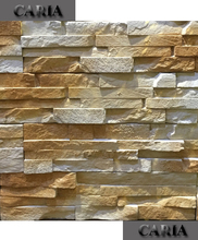 indoor decoration light weight yellow artifical cultured stone