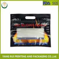 China Supplier Hot Popular Clear Plastic Zipper Bag With Handle