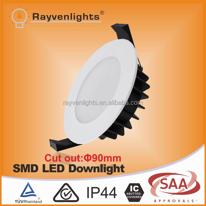 SAA IC-F rated approval EPISTAR 5730 dimmable smd 12w led <strong>downlight</strong> with 90mm cutout