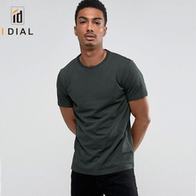 2017 New Design 95 Cotton 5 Spandex Blank Slim Fitness Compression GYM Men T-Shirts