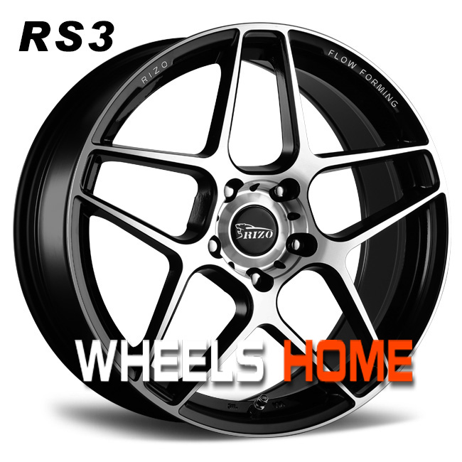 Rizo wheels,flowforming,black polished,18/19 inch always in stock for any cars.RS3