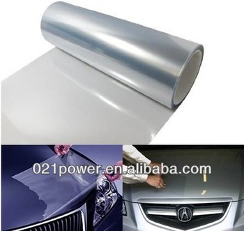 Stretchable super strength clear paint protection vinyl for Car paint protection film cost