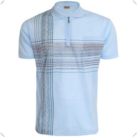 Mens golf POLO SHIRT short sleeve fashion printing casual top OEM with zip quarter zipper in various size M L XL XXL