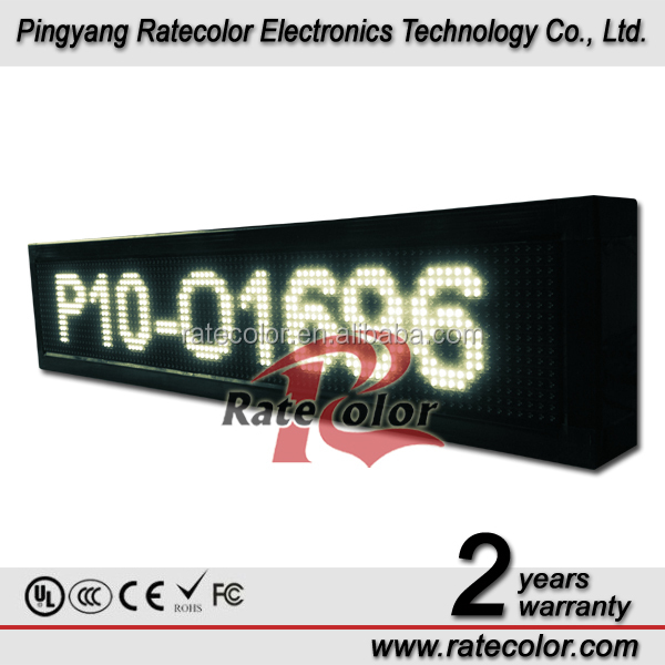 P10 single white color led scrolling outdoor LED Matrix Message Display Sign 16X96cm on alibaba cn
