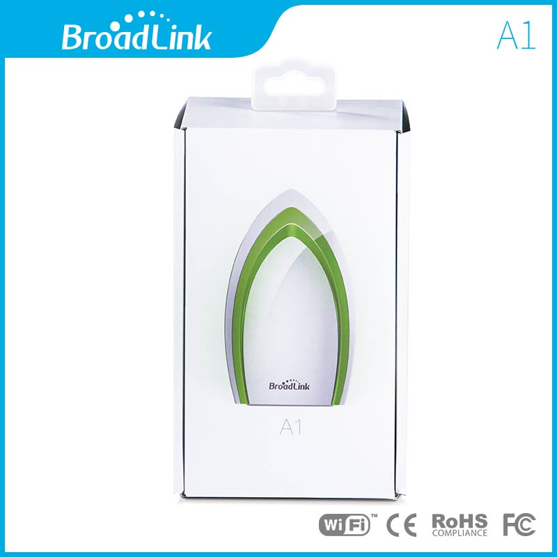 BroadLink A1 UK standard indoor air quality monitor for VOC temperature, humidity, noise, Light-sensitive