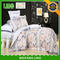 luxury new design printed egyptian cotton satin lace comforter