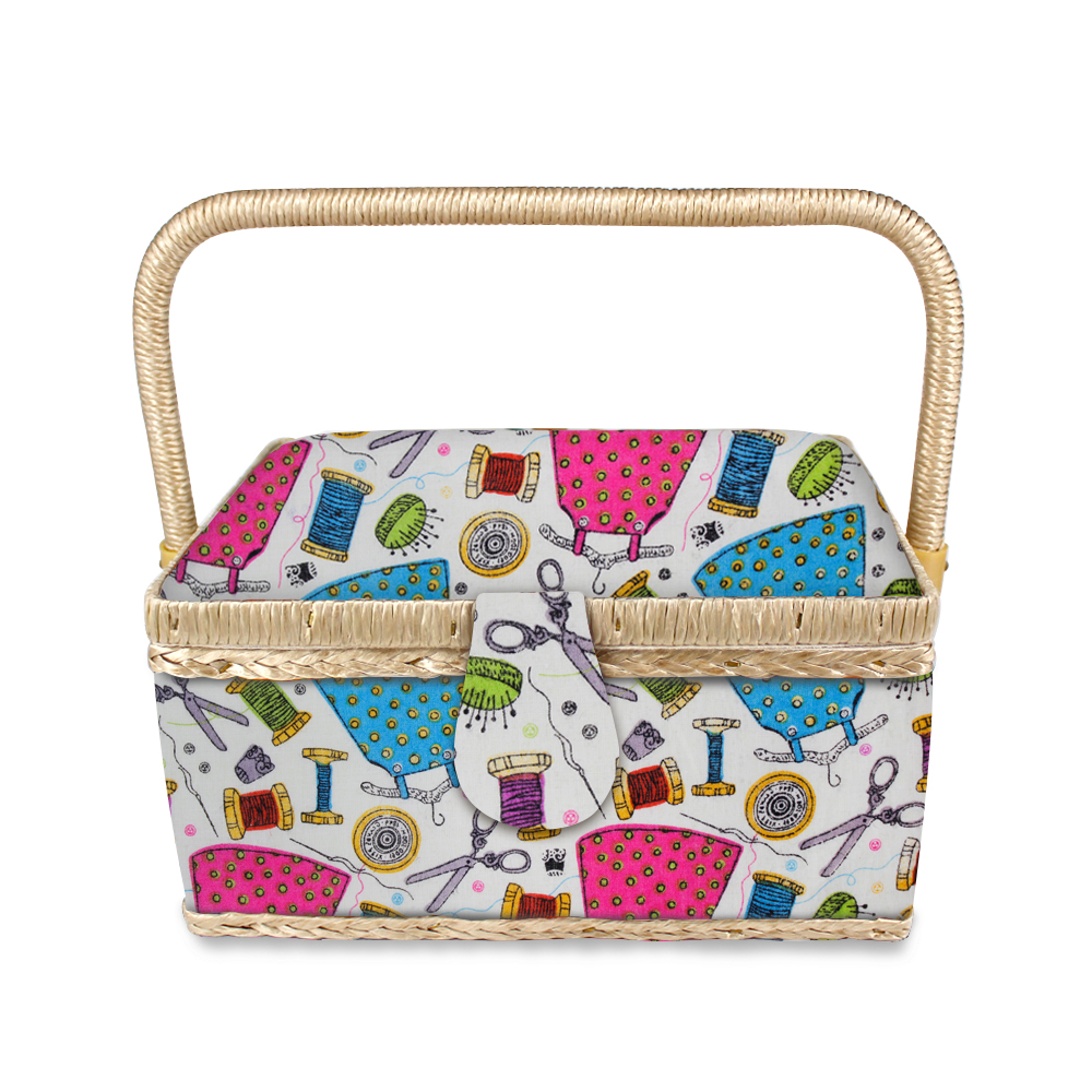 Wholesale household knit basket sewing tool storage box sewing basket