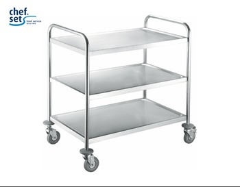 HIGH QUANTILY 2-TIER 3-TIER STAINLESS STEEL TROLLEY