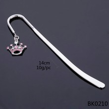 New product 2015 fashion custom metal bookmark clip crown metal bookmark
