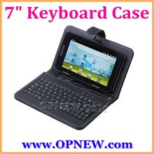 "USB/Mini USB/Micro Keyboard Leather Cover Case Bag for 7"" Tablet PC MID PDA Drop Shipping Wholesale OPNEW"