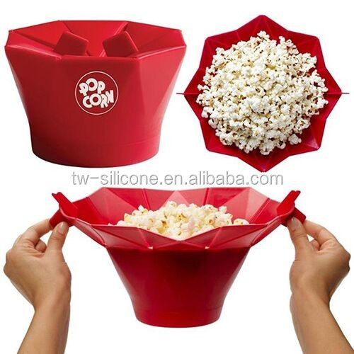Home Cinema Collapsible Silicone Microwave Popcorn Popper Maker