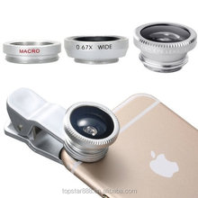 Mobile Phone camera Lens For iPhone 6 for Samsung S7 s7 edge for huawei 3in1 Wide-Angle Len Fisheye Lens Wide Angle Macro Clip