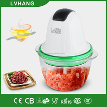 factory mini 1.0L ABS plastic glass bowl food chopper