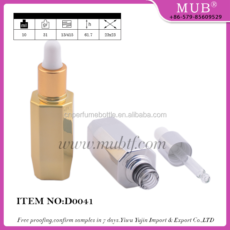 MUB Hot Sale Colored Cosmetic Glass Dropper Perfume &Essential Oil Bottle