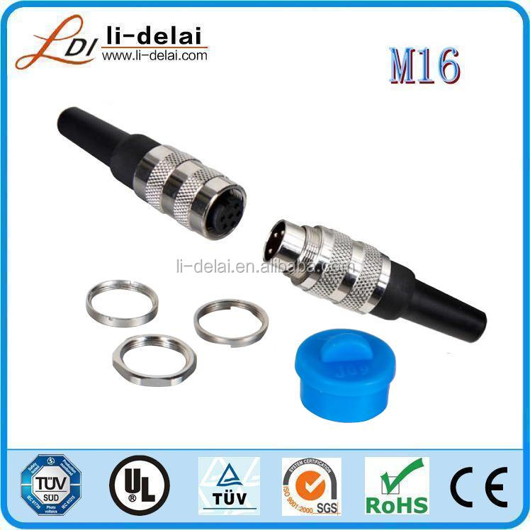 zinc alloy shell M16 2-24p quick metal screw connector M16 plug connector
