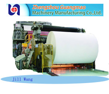 Printing white office A4 copy paper 80gsm making machine,paper recycling machine production line price